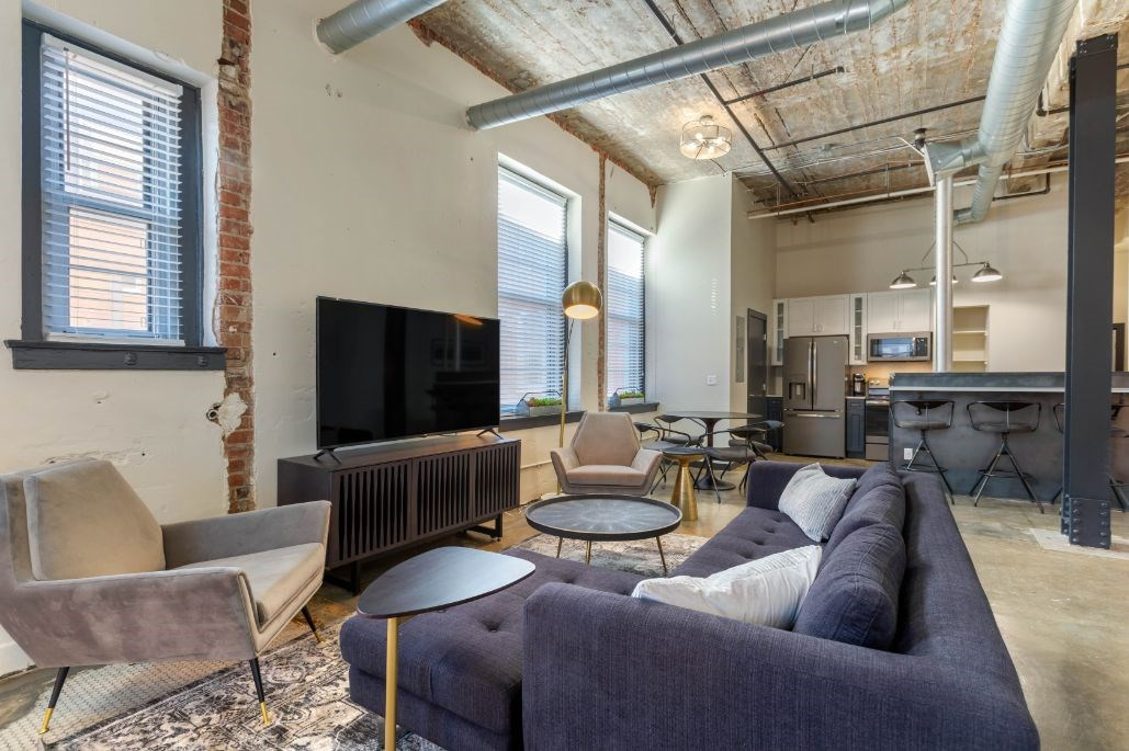 The Indi at Uptown Square Apartments |Spacious Living Room