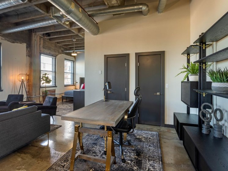 The Indi at Uptown Square Apartments |Personal Work Space Area
