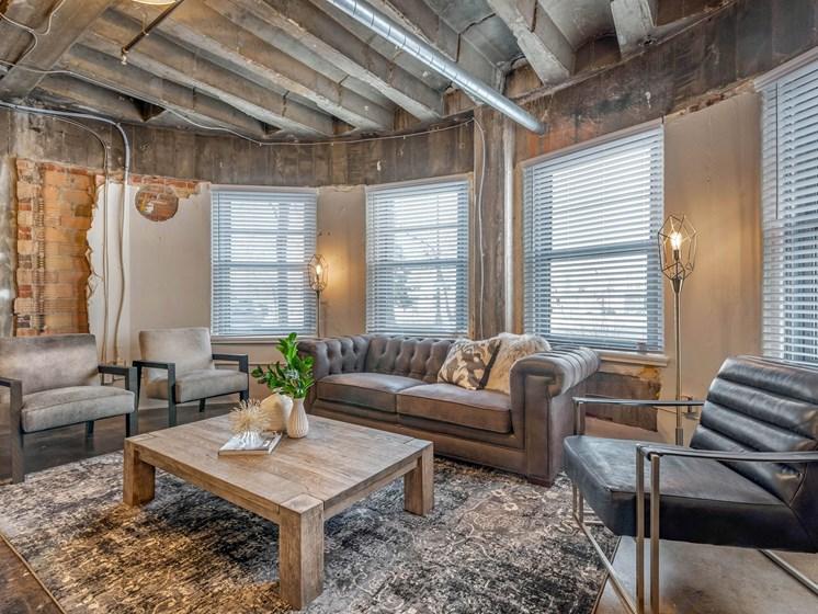 Unique Open Floor Plan Living Room