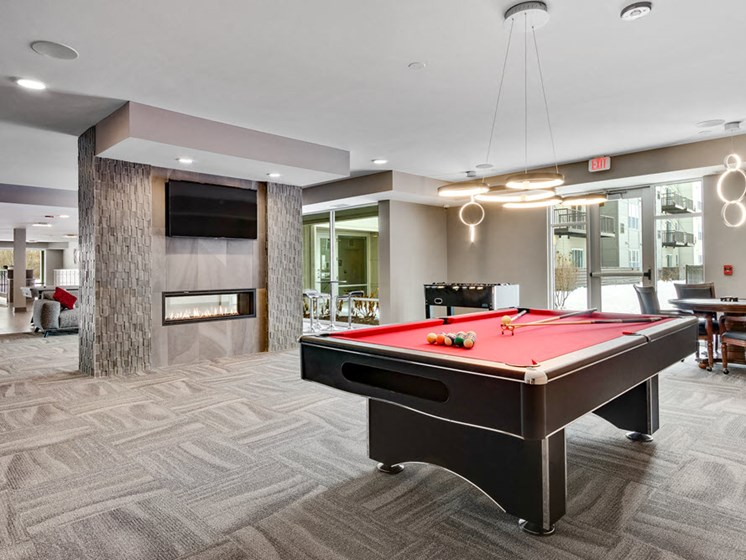 photo of game room with pool table