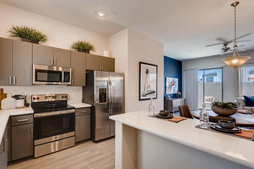 Kitchen at Avilla Centerra Apartments in Goodyear Arizona