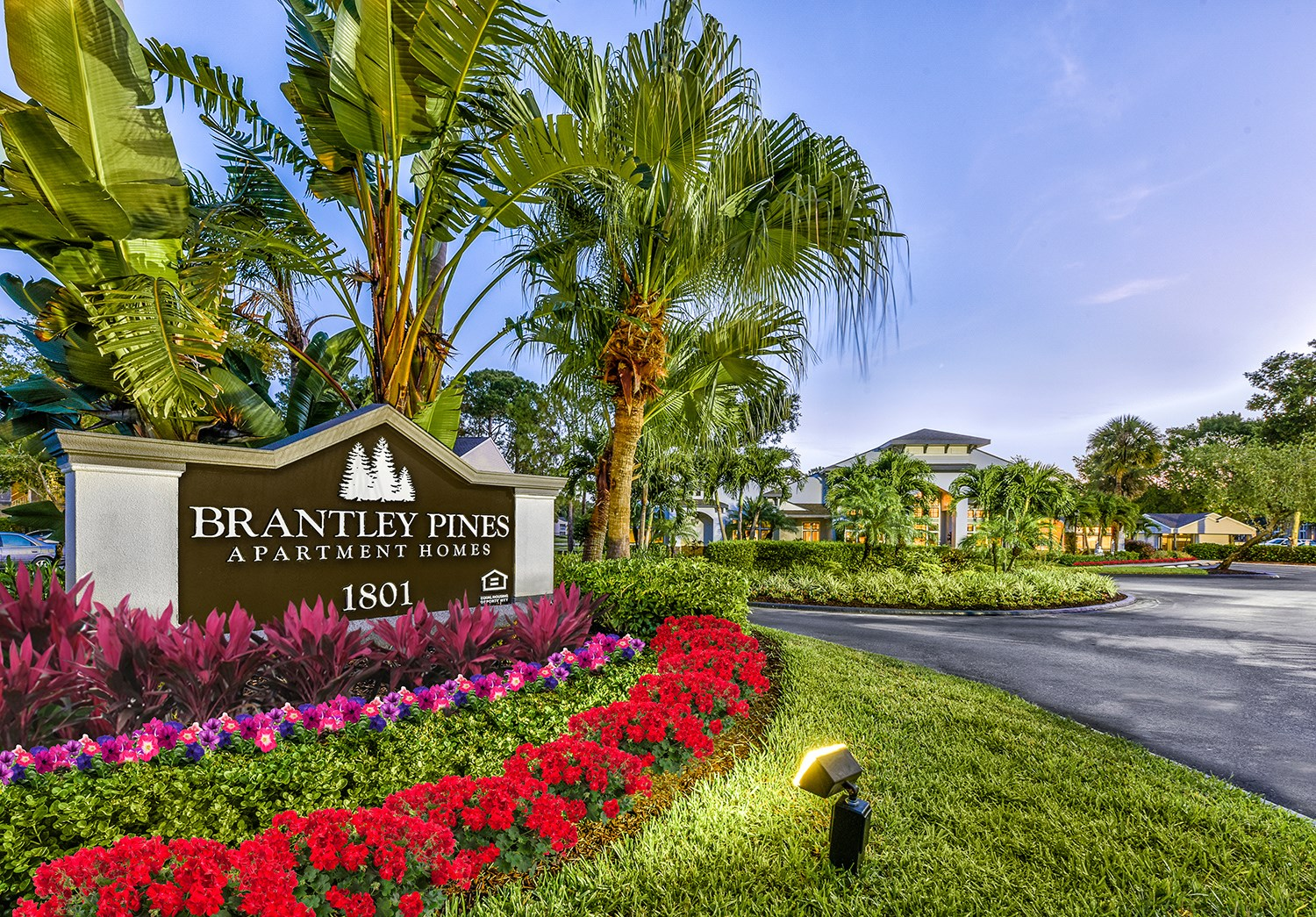 Entry Sign at Brantley Pines Apartments in Ft. Myers, FL