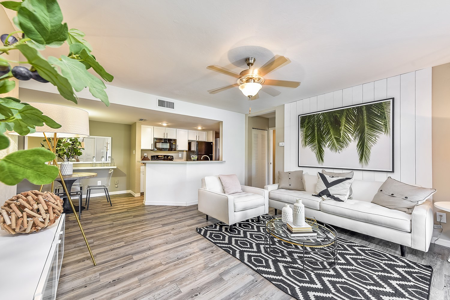 Spacious Living Room at Brantley Pines Apartments in Ft. Myers, FL
