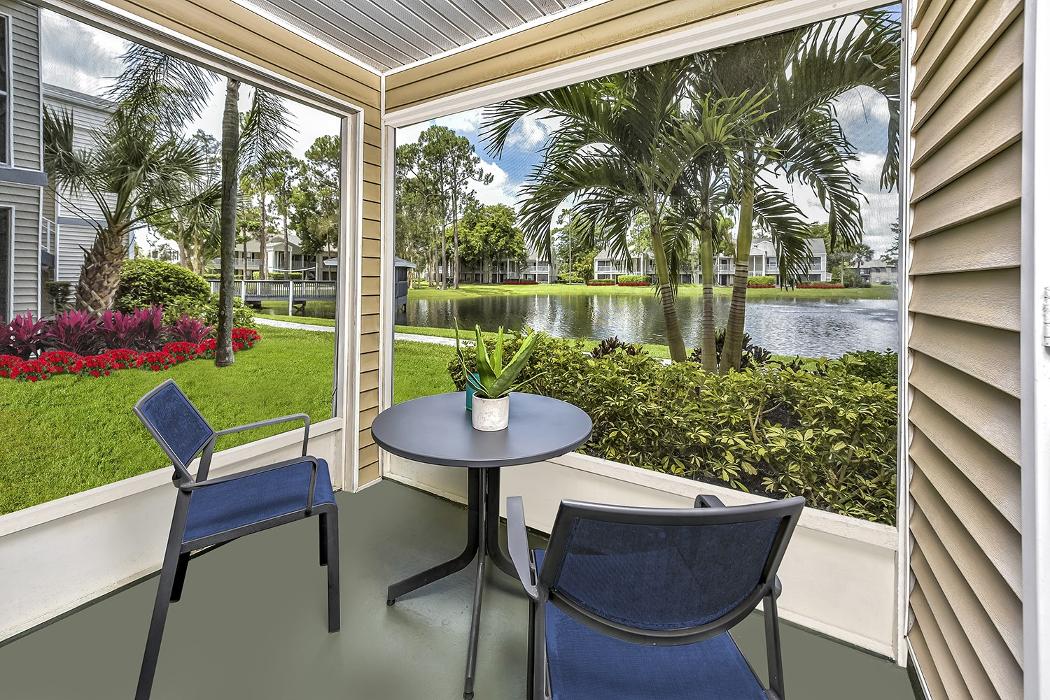 Screened Patio at Brantley Pines Apartments in Ft. Myers, FL