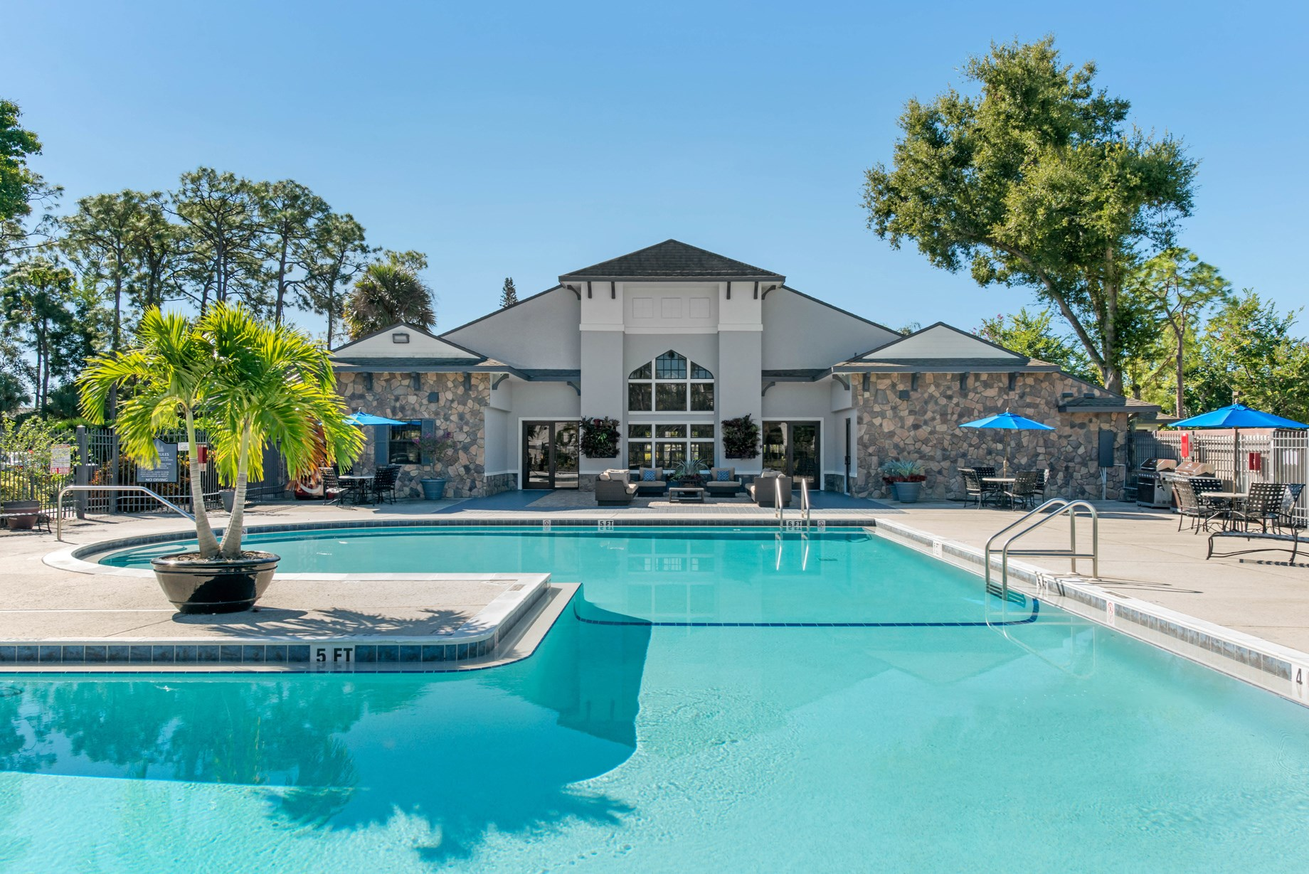 Swimming Pool at Brantley Pines Apartments in Ft. Myers, FL