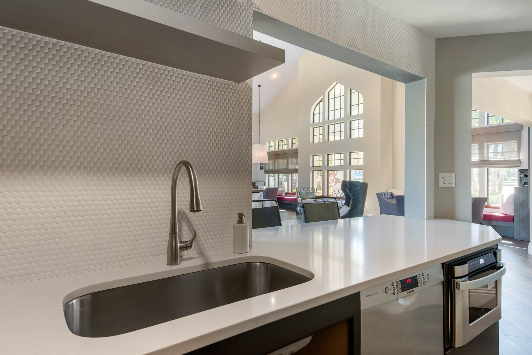 Clubhouse Kitchen at Brantley Pines Apartments in Ft. Myers, FL