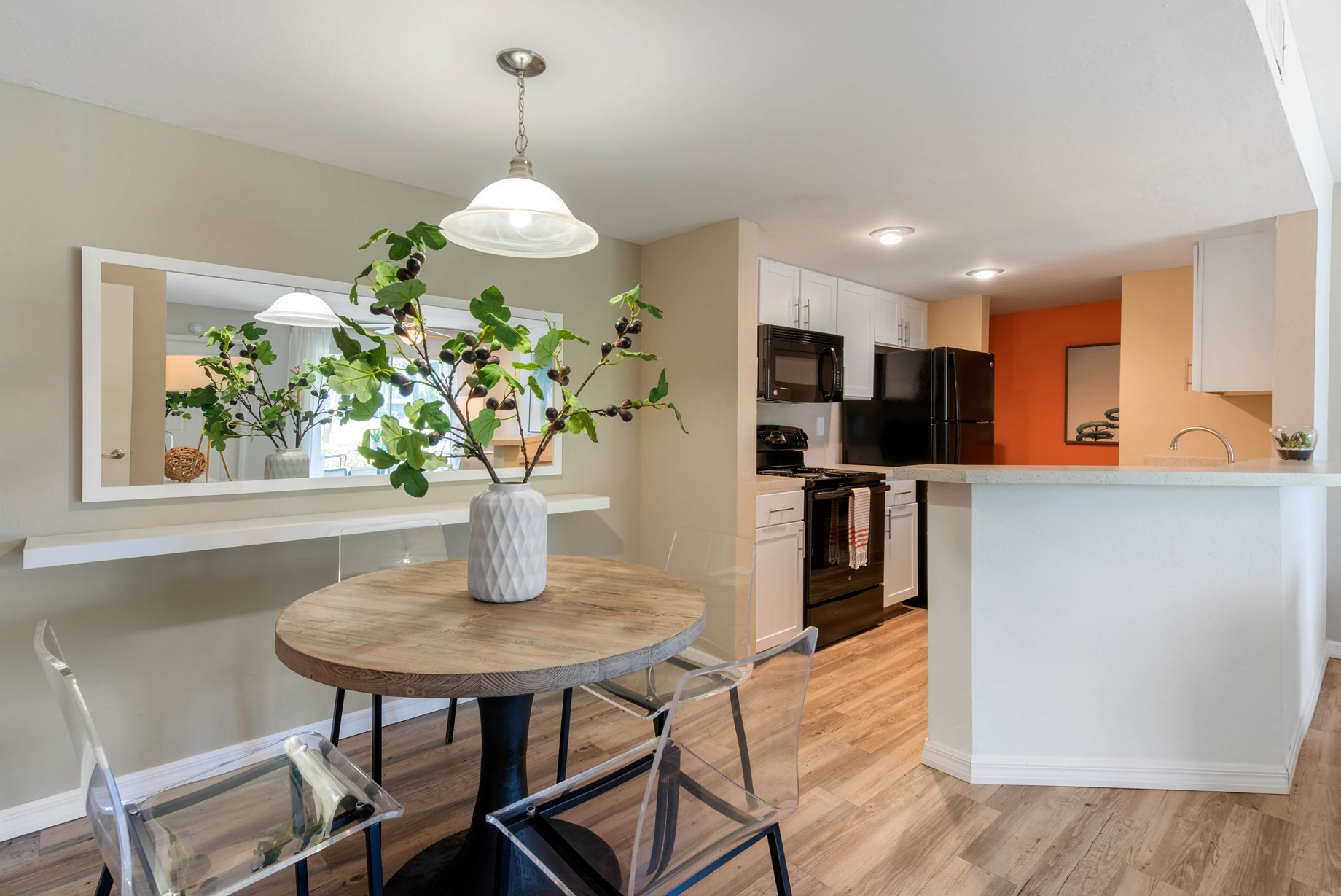 Dining Area and Kitchen at Brantley Pines Apartments in Ft. Myers, FL