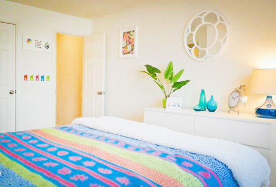 bright bedroom at West Chester apartments