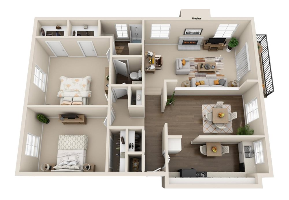 Huge floor plans at The Ridge at Chestnut in South Kansas City, MO