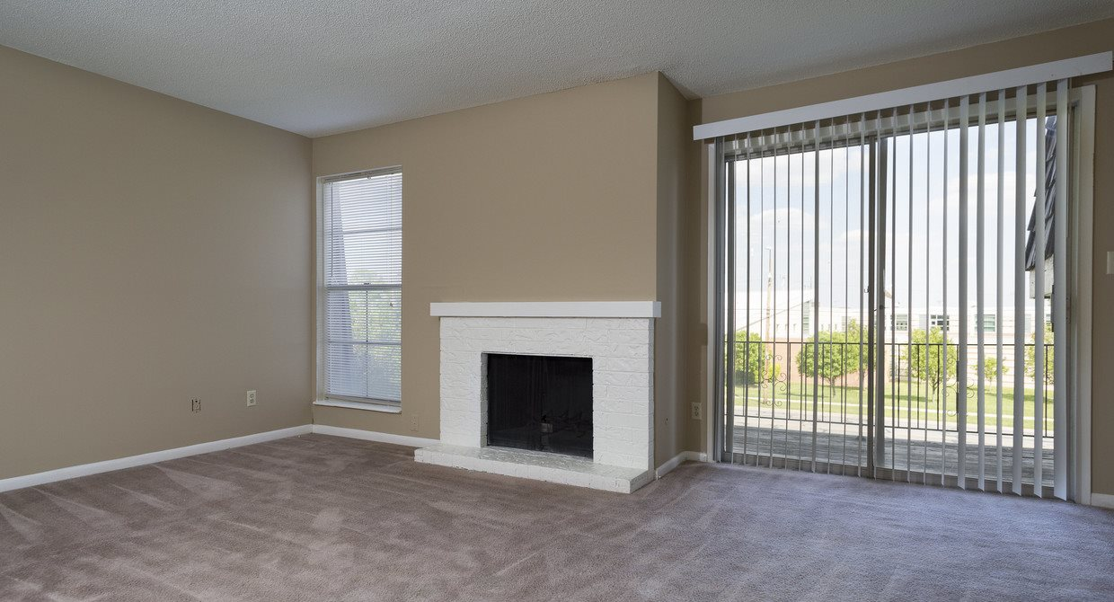 Fireplaces in apartments at The Ridge at Chestnut in South Kansas City, MO