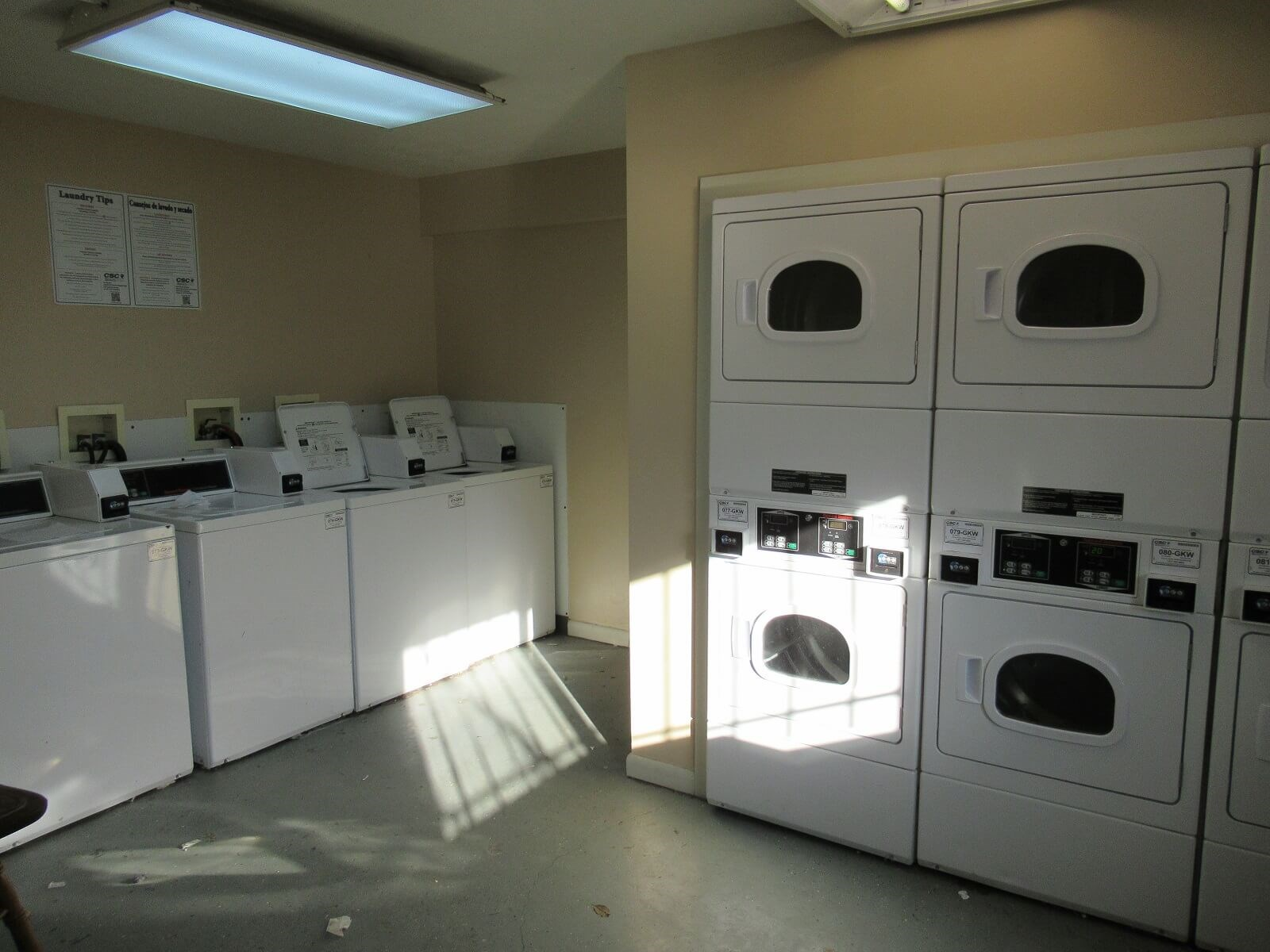 On site laundry facilities at Morgan Apartments in Winchester VA