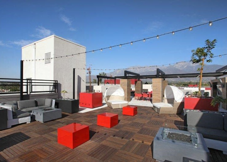 Arte rooftop area with BBQ