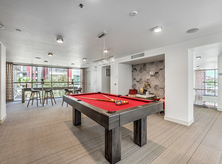 resident common area with pool table