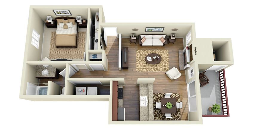 One Bedroom A3