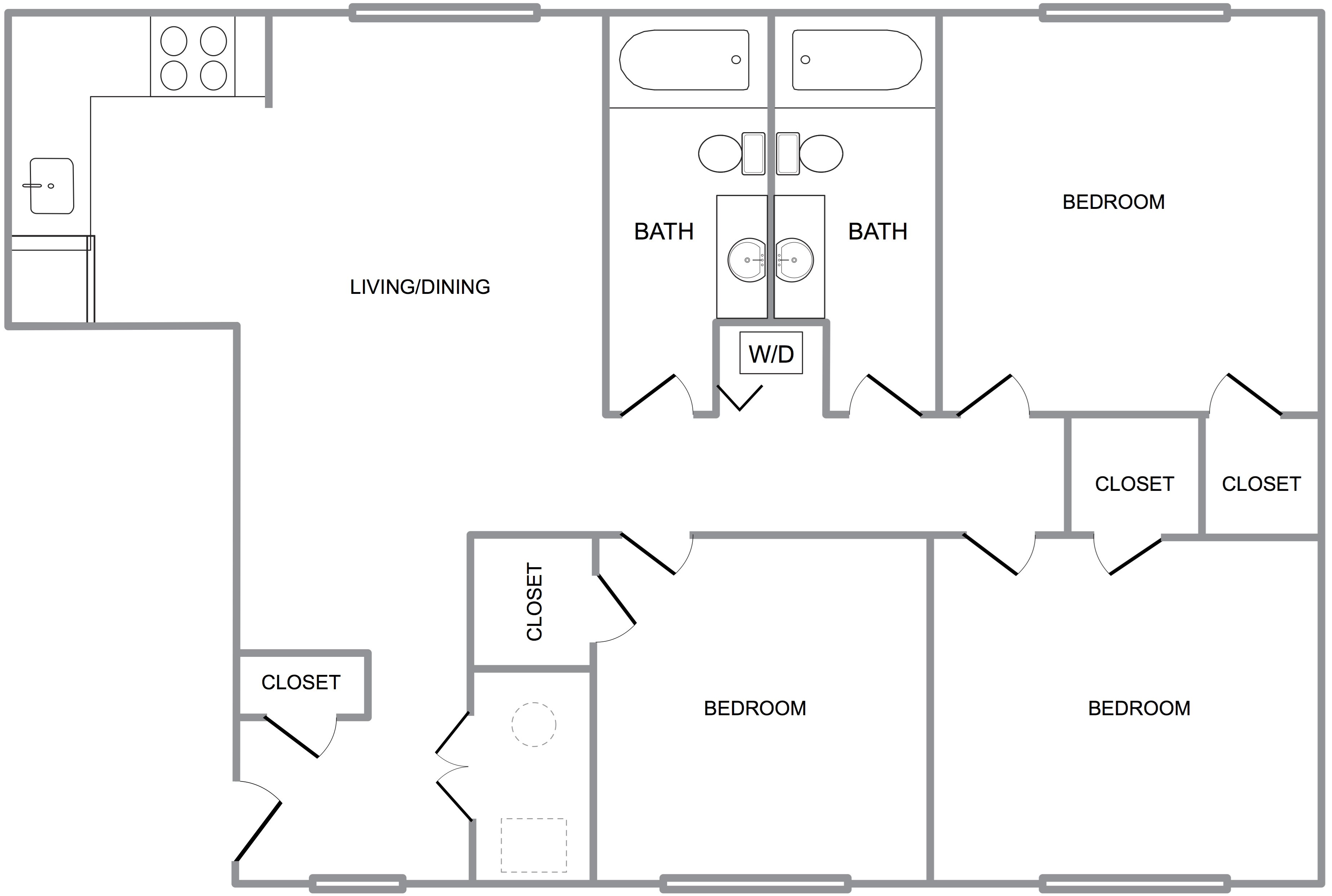 Three Bedroom A