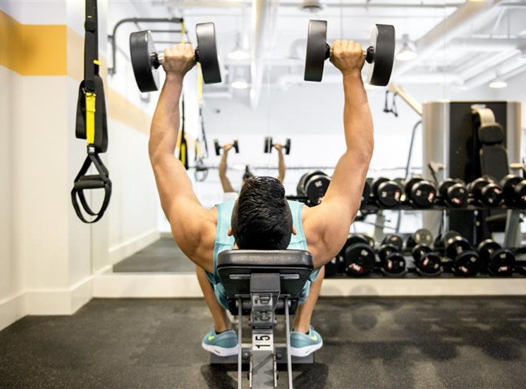 Gym with free-weights