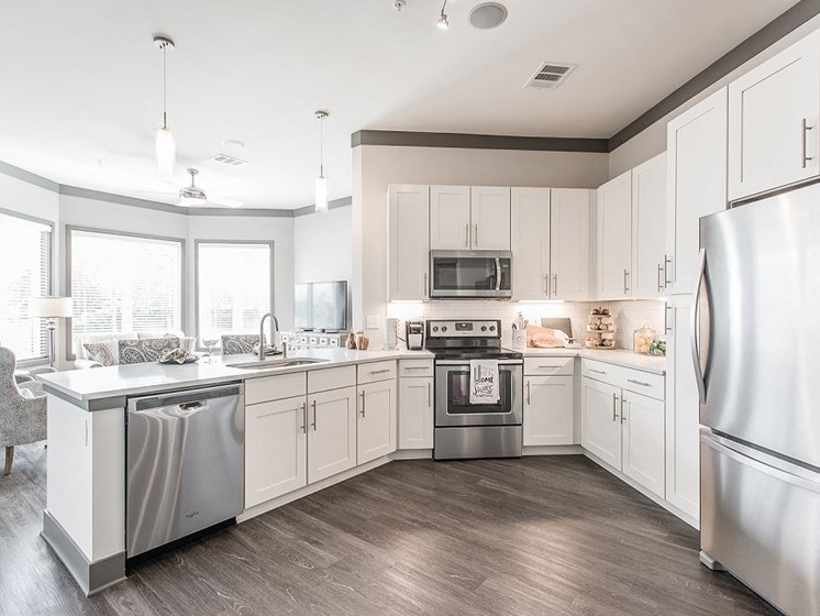 Modern Kitchen With Natural Light at Vintage at The Avenue near Murfeesboro, Tennessee