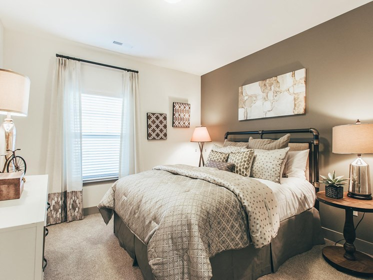 Modern Bedroom Details at Vintage Blackman Apartments in Murfeesboro, Tennessee