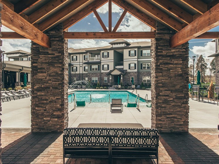 Pool cabana at Vintage Blackman Apartments in Murfeesboro, Tennessee