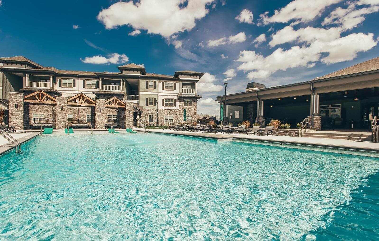 Pool Shot at Vintage Blackman Apartments in Murfeesboro, Tennessee