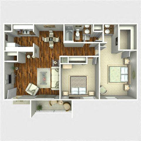 Fandango Floor Plan at The Quinn at Westchase, Houston, TX, 77077