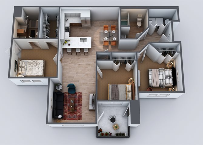 3 BEDROOM Floor Plan 6