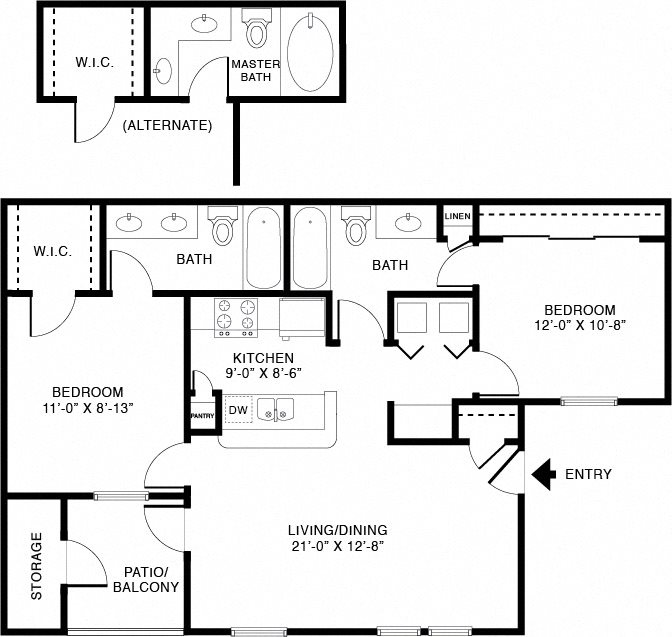 Floor Plans Of The Edgewater At Klein In Spring, TX