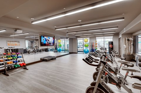 Fully Equipped Fitness Center at Retreat at Ironhorse, Franklin, TN, 37069