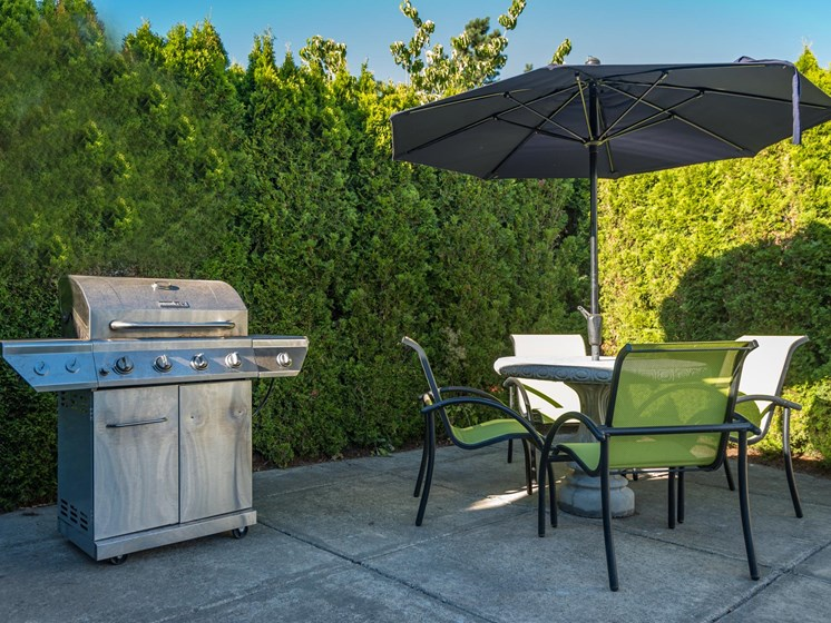 Chinook Way Apartments | Two Bedroom Aspen | Outdoor BBQ