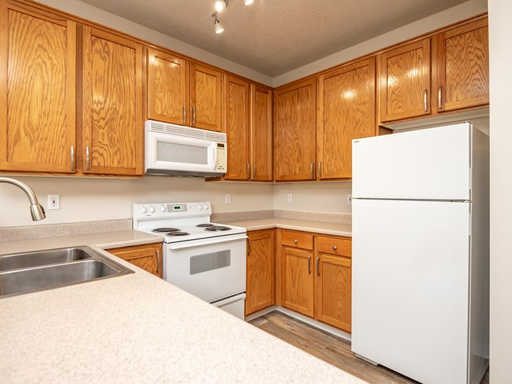 Chinook Way Apartments | Two Bedroom Aspen | Kitchen