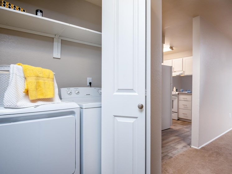 Coho Run Apartments | Two Bedroom | Full Size Washer and Dryer