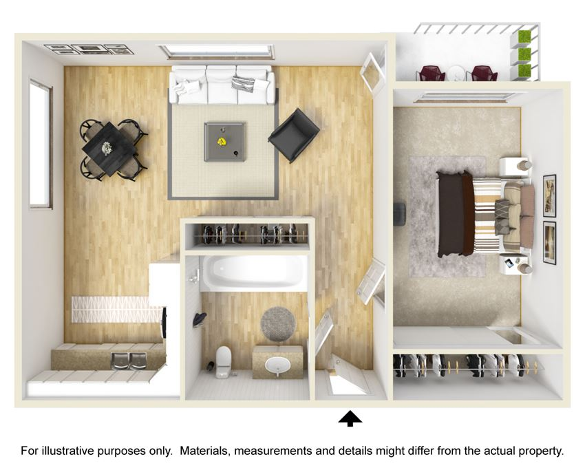 Connery Place | One Bedroom Floor Plan