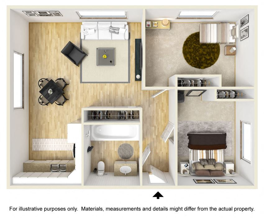 Connery Place | Two Bedroom Floor Plan