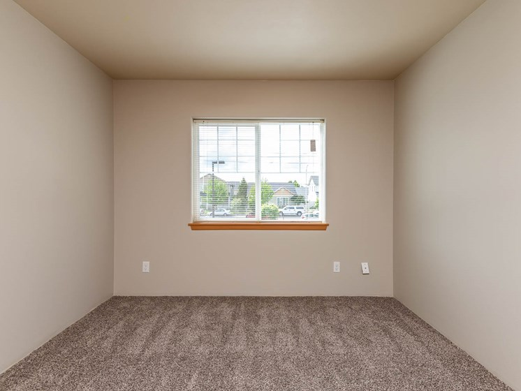 Wall to wall carpet and large bedroom space