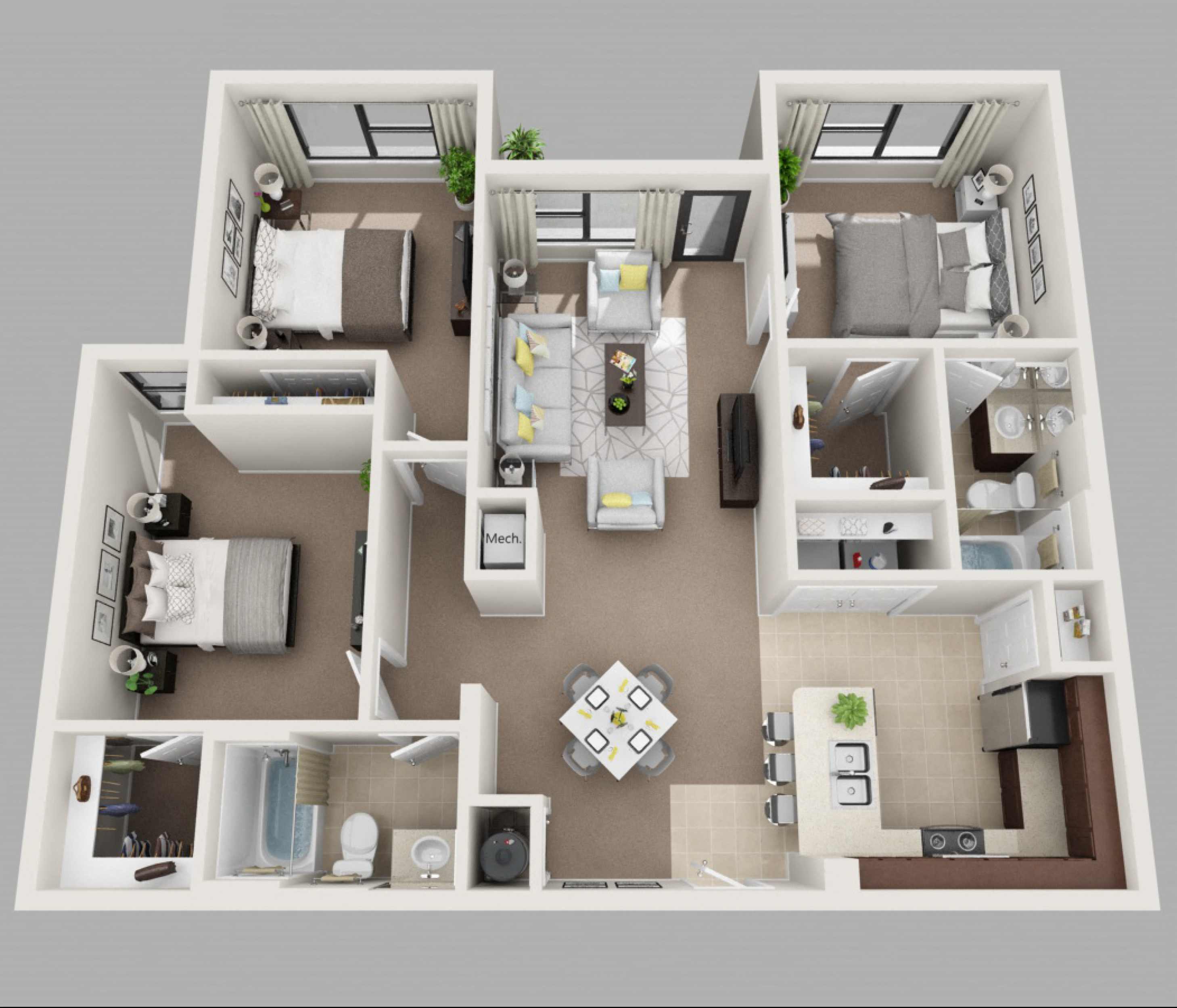 20 Bedroom House For Rent: Floor Plans Of Amelia Court In Orlando, FL
