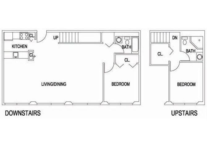 TWO BEDROOM DUPLEX_1380