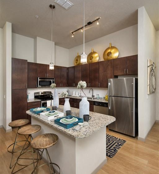 Chef Inspired Kitchen Islands with Chic Pendant Lighting at Azul Baldwin Park, Orlando, 32814