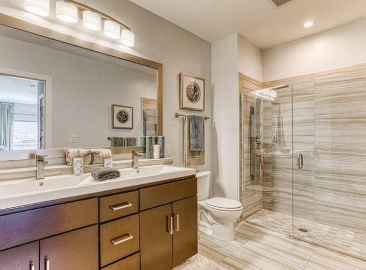 Spa Inspired Bathrooms at Carroll at Bellemeade, Greensboro, North Carolina