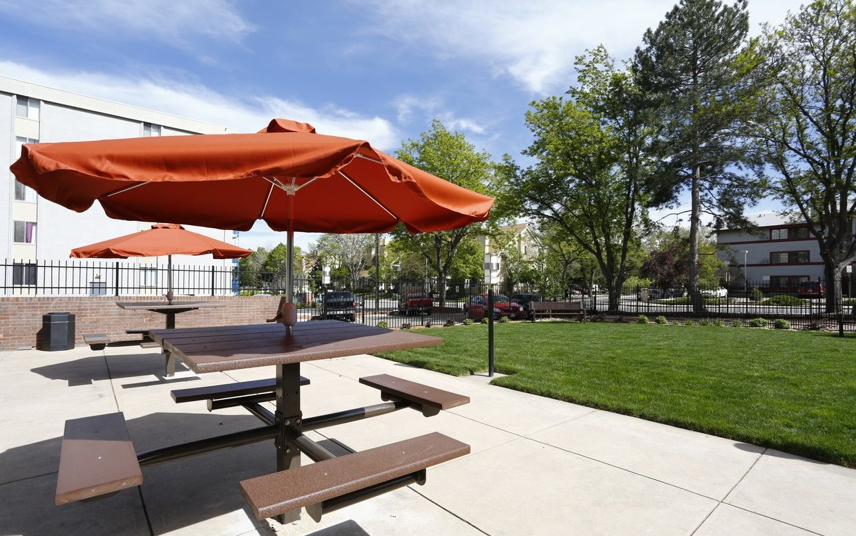 Rise outdoor seating in Denver, CO