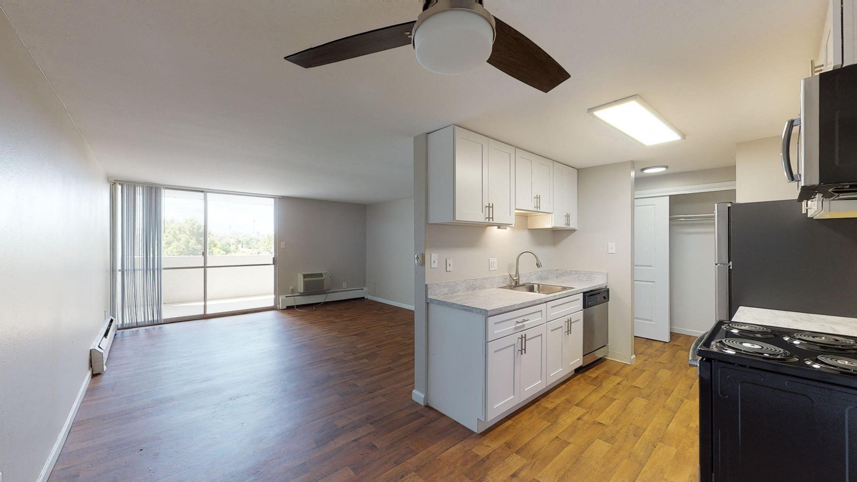 Upgraded finishes. vinyl floors, stainless steel appliances