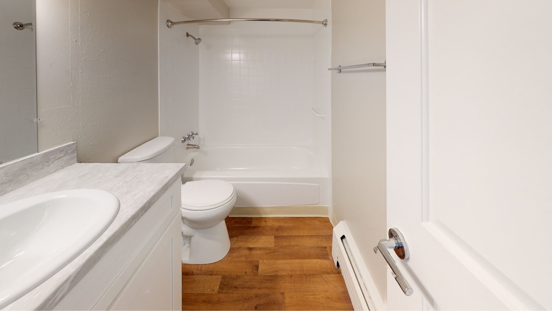Sparkling white bathroom
