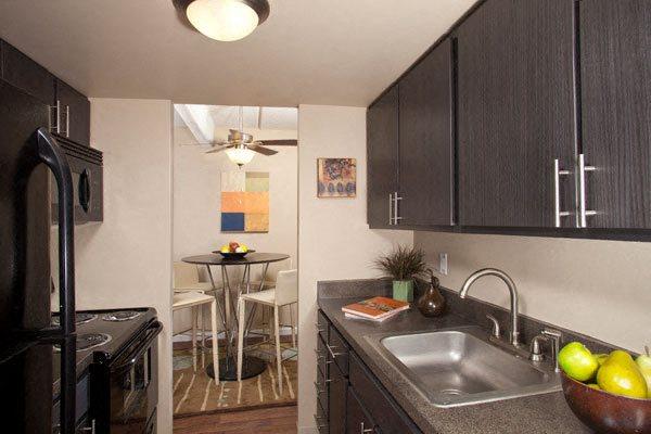 Edge galley style kitchen in Denver, CO