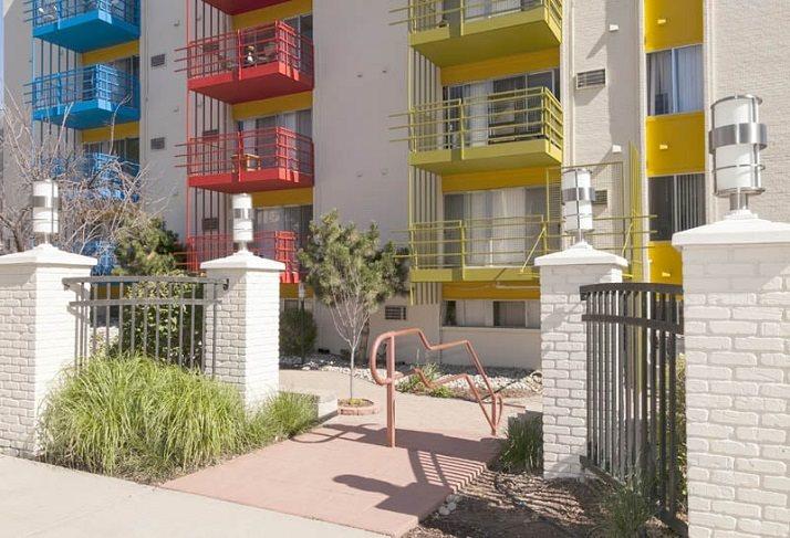 Inviting entrance at Vue in Denver, CO