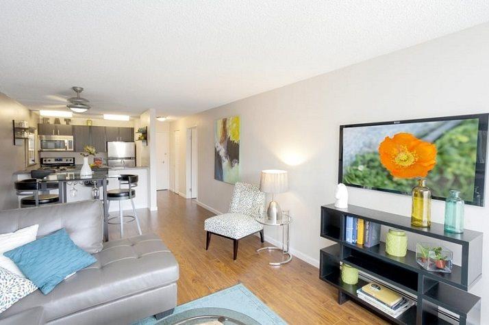 Bright Living Room at Vue in Denver, CO