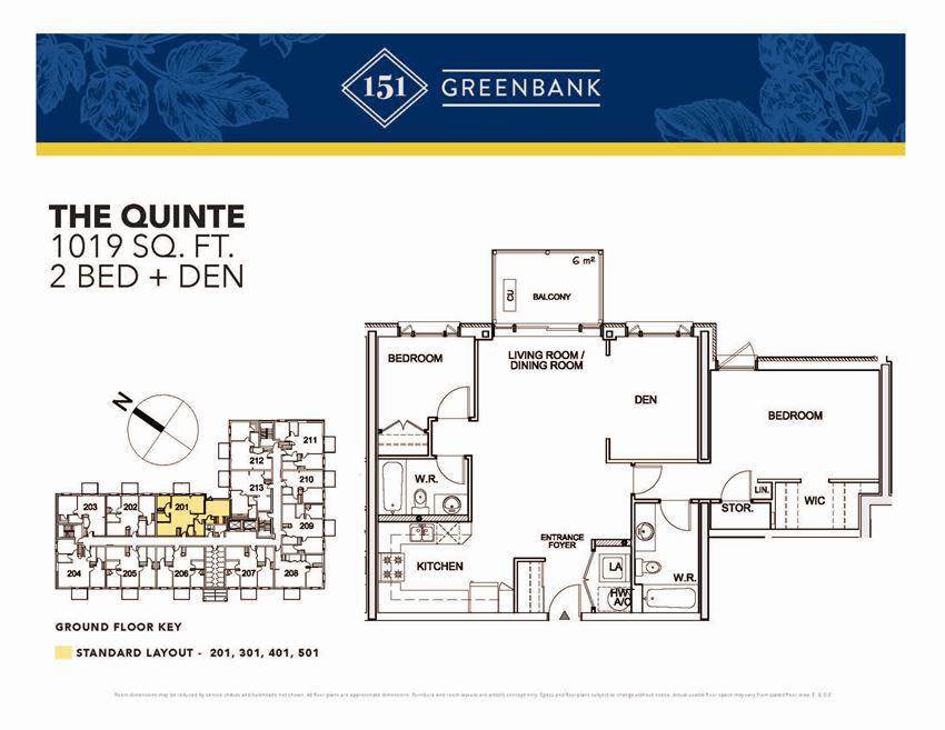 151 Greenbank Quinte 2 Bedroom + Den Image