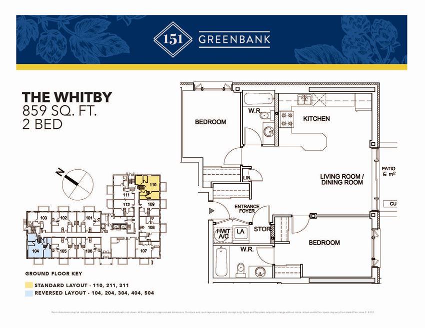 151 Greenbank Whitby 2 Bedroom Image