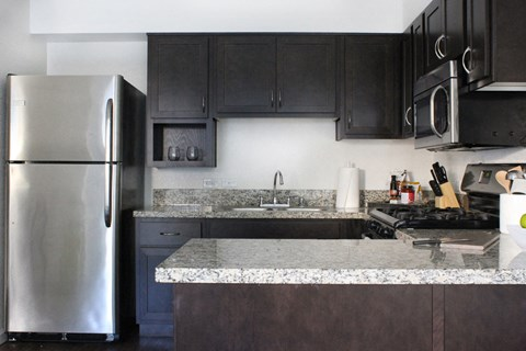 Model apartment home kitchen from a different angle