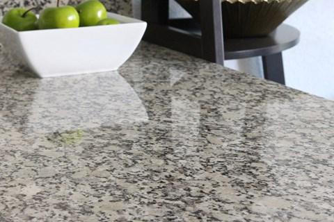 Model apartment home kitchen granite countertops