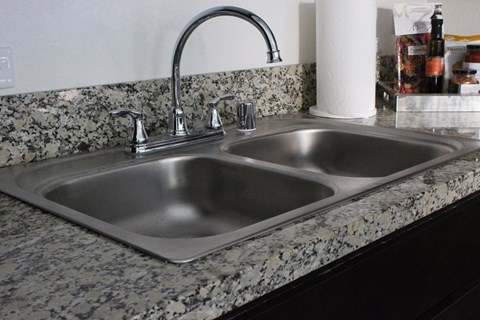 Model apartment home kitchen sink
