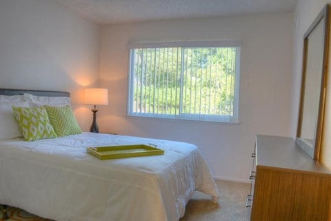 Model apartment home bedroom from different angle